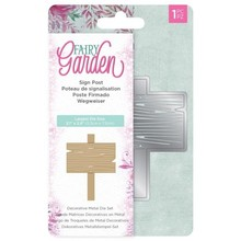 Crafter's Companion Fairy Garden Sign Post Dies (NG-FAIRY-MD-SIGN)