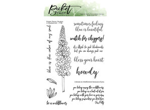 Picket Fence Studios A Bluebonnet Clear Stamps (F-118)