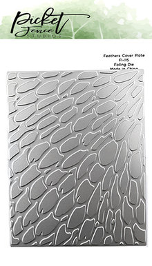 Picket Fence Studios Feathers Cover Plate Foil and Cutting Die (FI-115)