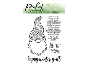 Picket Fence Studios A Gnome Winter Clear Stamps (S-126)