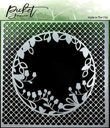 Picket Fence Studios Peek A Boo Flower Stencil (SC-124)