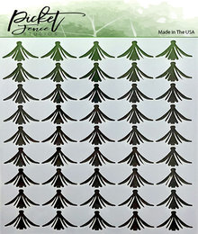Picket Fence Studios Tulips Stencil (SC-128)