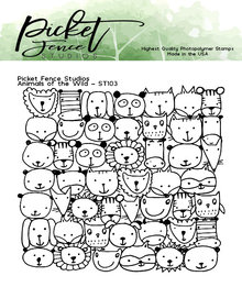 Picket Fence Studios Animals of the Wild Clear Stamps (ST-103)