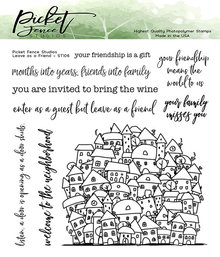 Picket Fence Studios Leave As A Friend Clear Stamps (ST-105)