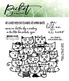 Picket Fence Studios Litter of Cats Clear Stamps (ST-106)