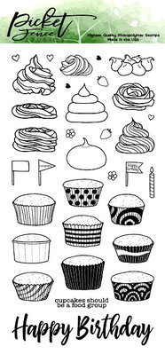 Picket Fence Studios Cupcake Love Clear Stamps (T-101)