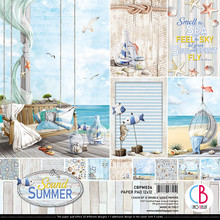 Ciao Bella Papercrafting Sound of Summer 12x12 Inch Paper Pad (CBPM034)