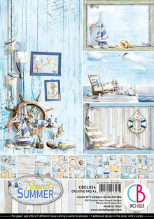 Ciao Bella Papercrafting Sound of Summer A4 Creative Pad (CBCL034)