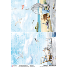 Ciao Bella Papercrafting Sound of Summer Find Your Happy Place A4 Piuma Rice Paper (CBRP106)