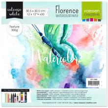 Vaessen Creative Florance Texture Intense Aquarelpapier 12x12 Inch 50pcs (2911-5004)