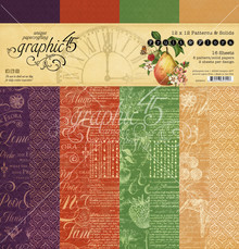 Graphic 45 Fruit & Flora 12x12 Inch Patterns & Solids (4502001)