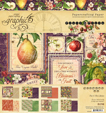 Graphic 45 Fruit & Flora 8x8 Inch Paper Pad (4501999)