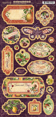 Graphic 45 Fruit & Flora Chipboard (4502002)
