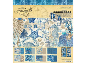Graphic 45 Ocean Blue 12x12 Inch Collection Pack (4502016)