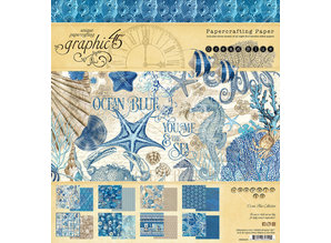 Graphic 45 Ocean Blue 8x8 Inch Paper Pad (4502015)