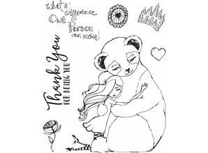 Jane Davenport Panda Thank You Clear Stamps (JDS-047)