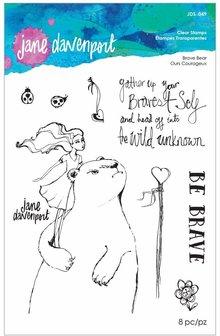 Jane Davenport Brave Bear Clear Stamps (JDS-049)