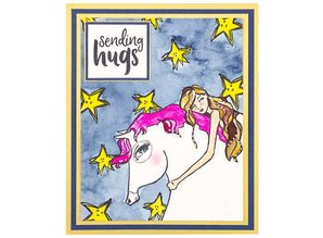 Jane Davenport Horse Hug Clear Stamps (JDS-050)