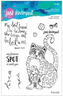 Jane Davenport Best Leopard Clear Stamps (JDS-054)