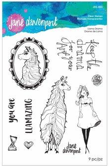 Jane Davenport Llama Drama Clear Stamps (JDS-055)