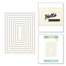 Spellbinders Essential Glimmer Rectangles Hot Foil Plates (GLP-152)