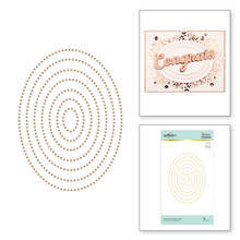 Spellbinders Essential Glimmer Ovals Hot Foil Plates (GLP-153)