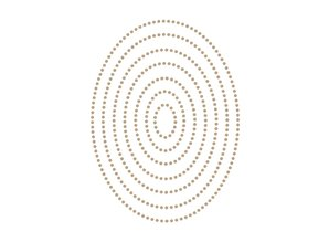 Spellbinders Essential Glimmer Ovals Hot Foil Plates (GLP-153)