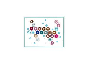 Spellbinders Honeycomb Alphabet Hot Foil Plates (GLP-158)