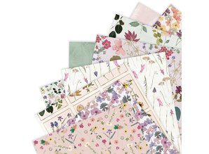 Papermania Pressed Flowers 12x12 Inch Paper Pad (PMA 160412)