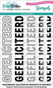 CarlijnDesign Clear Stamps Gefeliciteerd Blokletters (CDST0041)