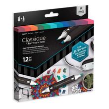 Spectrum Noir Classique Alcohol Markers Set Jewels (12pcs) (SPECN-CS12-JEW)
