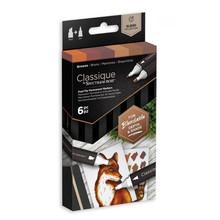 Spectrum Noir Classique Alcohol Markers Set Browns (6pcs) (SPECN-CS6-BRO)