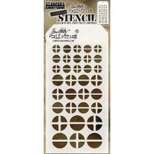 Stampers Anonimous Tim Holtz Screwed Layering Stencil (THS087)