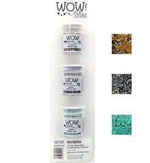 WOW! Trio's Riviera Embossing Powder Set (WOWKT022)