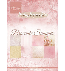 Marianne Design Brocante Summer A5 Pretty Papers Bloc (PK9166)