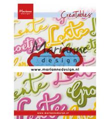 Marianne Design Creatable Groetjes (LR0646)
