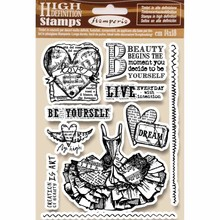 Stamperia Natural Rubber Stamps Fly High (WTKCC165)