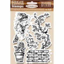 Stamperia Natural Rubber Stamps Enjoy (WTKCC166)