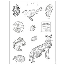 Stamperia Soft Maxi Mould Forest Underwood (K3PTA463)