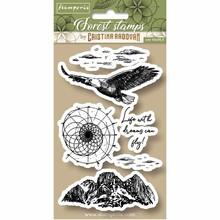 Stamperia Natural Rubber Stamp Forest Eagle (WTKCCR07)