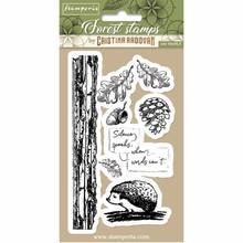 Stamperia Natural Rubber Stamp Forest Hedgehog (WTKCCR10)