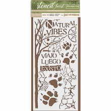 Stamperia Media Stencil Forest Paw (KSTDL31)