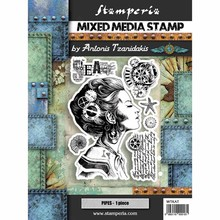 Stamperia Mixed Media Stamps Lady (WTKAT09)