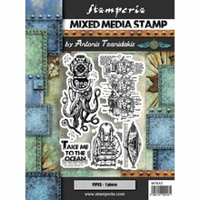 Stamperia Mixed Media Stamps Octopus (WTKAT12)