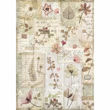 Stamperia Rice Paper A4 Imagine Pressed Flowers (DFSA4440)