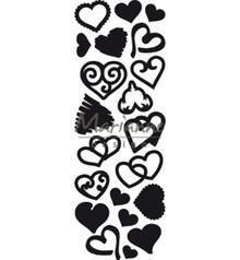 Marianne Design Craftable Punch Die Sweet Hearts (CR1460)
