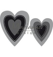 Marianne Design Craftable Nest Die Hearts (M) (CR1461)