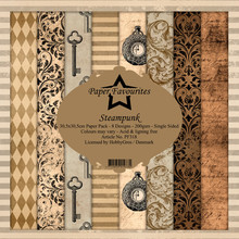 Paper Favourites Steampunk 12x12 Inch Paper Pack (PF318)