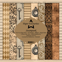 Paper Favourites Steampunk 6x6 Inch Paper Pack (PF118)