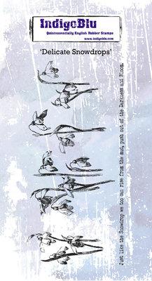 IndigoBlu Delicate Snowdrops Rubber Stamp (IND0597)